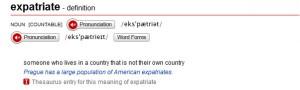 Expatriate-definition